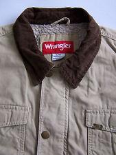 Wrangler Sherpa Fur Lined Work Jacket Men's XL Extra Large Vintage LJKTk072 #