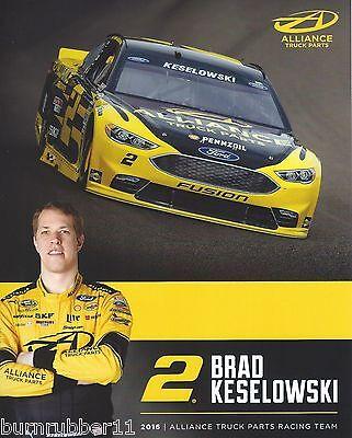 """2016 BRAD KESELOWSKI /""""AUTO TRADER/"""" #2 NASCAR SPRINT CUP POSTCARD"""