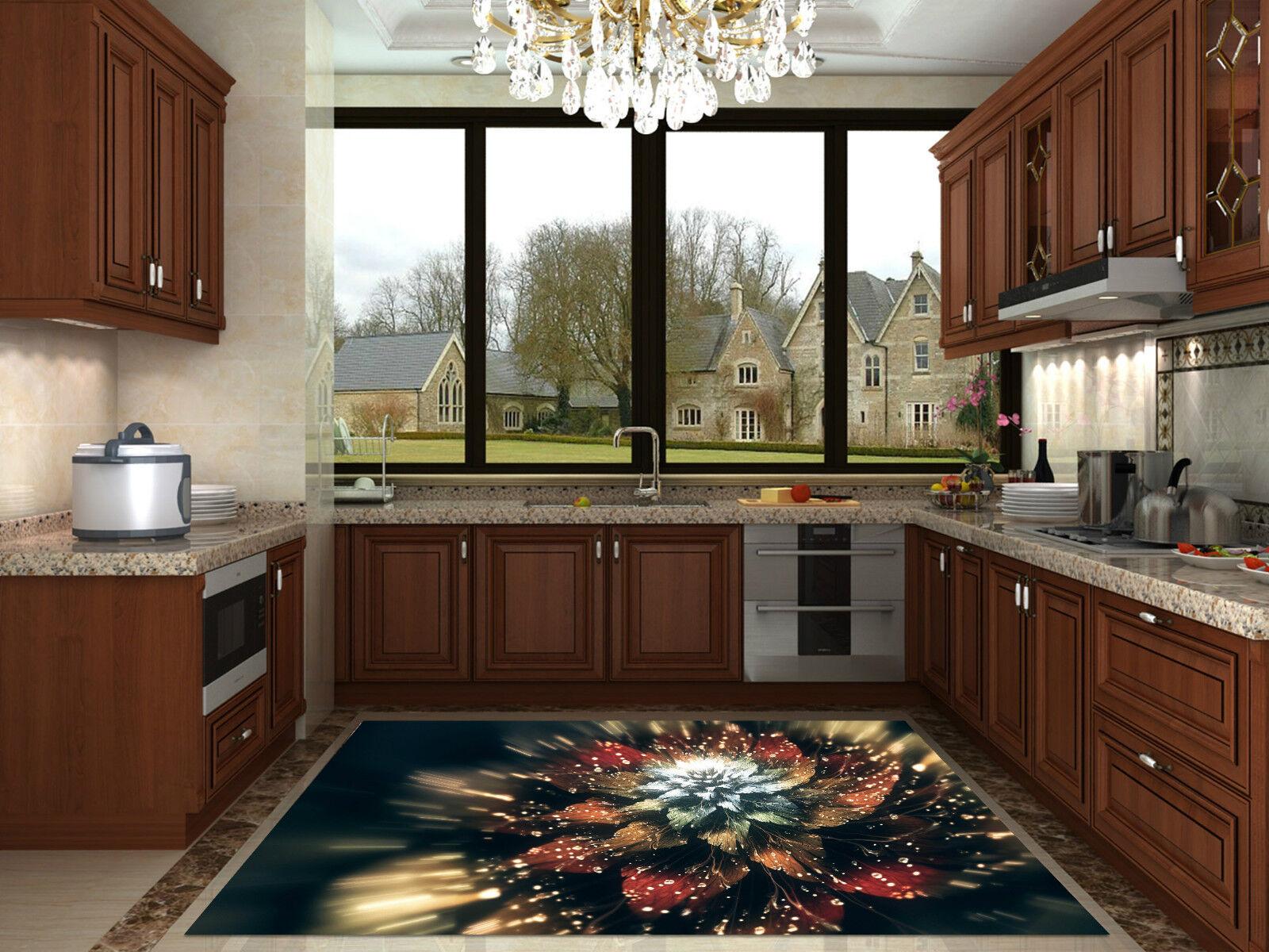 3D Shiny Flower 27 Kitchen Mat Floor Mural Wall Print Wall Deco AJ WALLPAPER CA