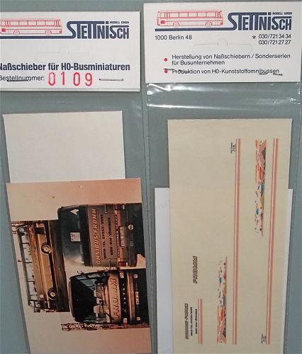 Fromm Stettnisch Beschriftung Bus Setra S215HD O303 å *