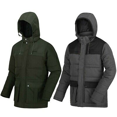 Regatta Mens Arnau Water Repellent Thermo-Guard Insulated Wool Look Jacket Baffled//Quilted