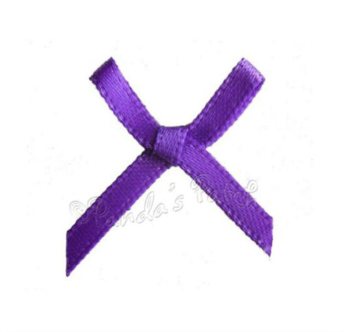 3mm Satin Ribbon Mini Bows 30pk 50pk or 100pk 24 Colours Free UK Post