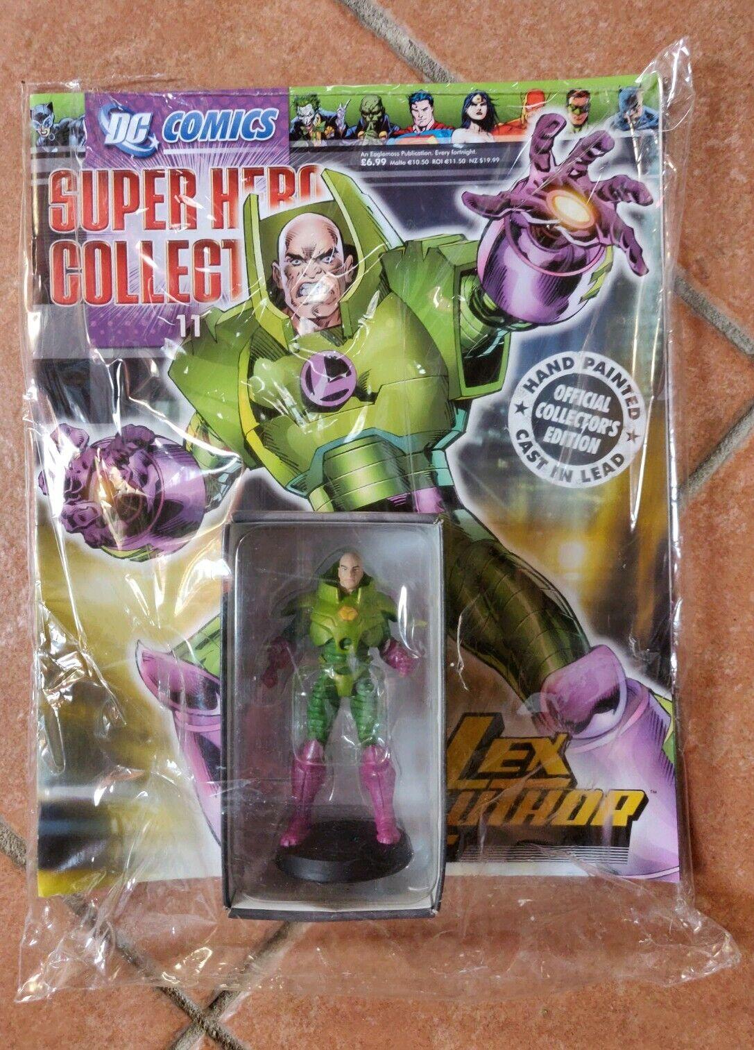 DC COMICS SUPER HERO COLLECTION SIGILLATO 11  LEX LUTHORVER INGLESE EAGLEMOSS  esclusivo