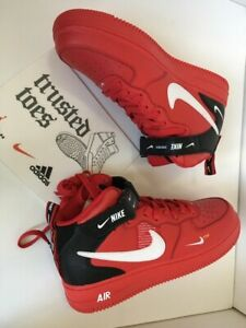 Details about NIKE AIR FORCE 1 MID 07 LV8 Utility High Cut Red US7 /EUR 40