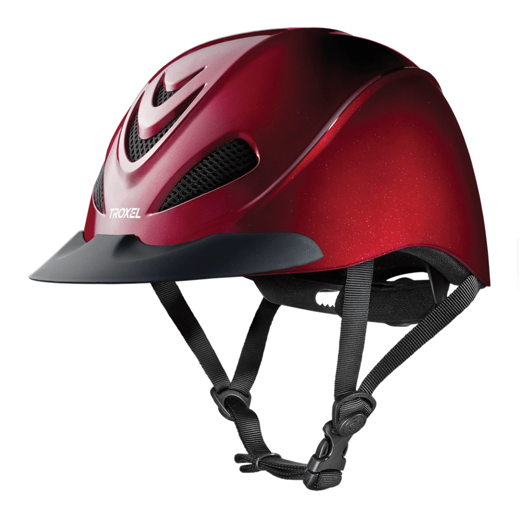 Troxel Riding Helmet Liberty Ruby rosso Equine Horse Safety Low Profile Small