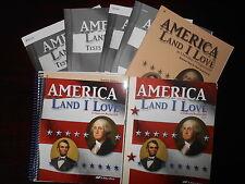 A Beka America Land I Love set homeschooling 8th grade History set