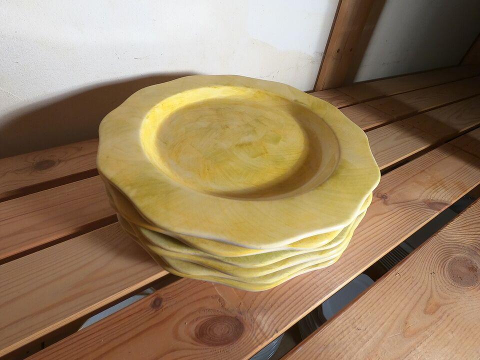 Porcelæn, Dæk-tallerkener, (6 stk.)
