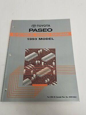 1993 TOYOTA PASEO ELECTRICAL WIRING DIAGRAM MANUAL USA ...