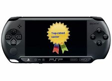 New SONY PSP E1004 Black Edition Model & 16gb Memory Card With 20 Digital Games