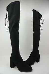 884cafac7450 Image is loading Stuart-Weitzman-Hinterland-Black-Over-The-Knee-Boots-
