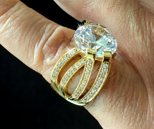 5 ct Imperial Crown Russian CZ Imitation Moissanite Simulant 14 kt Gold /& SS 6