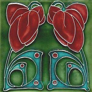 Art Nouveau Reproduction Decorative Ceramic Tile 010 Ebay