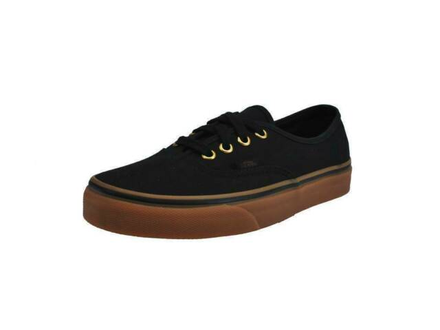black vans tan bottom