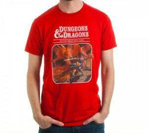 46d0fe0ac5d6 Dungeons & Dragons Red Players Manual Book Mens Tee T-Shirt AD&D D&D ...