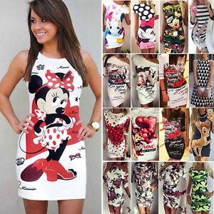 Damen-Bodycon-Minikleid-Sommerkleid-Longshirt-Hemdkleid-Tunika-Freitzeitkleid-DE