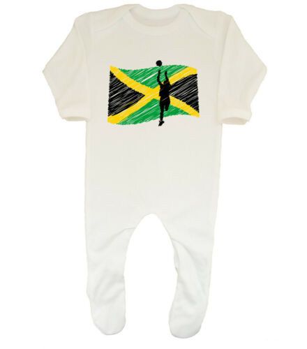 Jamaica Netball Boys Girls Baby Grow Sleepsuit