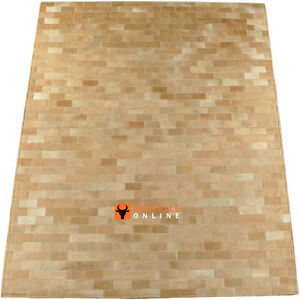 kuhfell teppich hellbraun patchwork 200 x 160 cm cowhide rug lightbrown ebay. Black Bedroom Furniture Sets. Home Design Ideas
