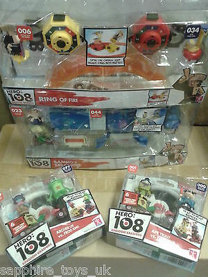 BUNDLE OF HERO 108 TOYS - RING OF FIRE, SAMMOS SPLASHOUT, 4 FIGURES - NEW