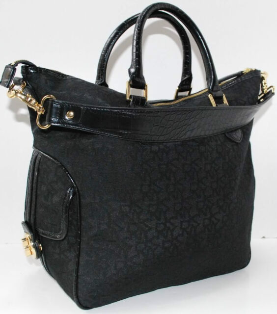Dkny T C Turnlock Bag Purse Handbag Black New Authentic