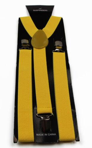 LONGEST 138CMS SUSPENDERS black white red navy blue elastic braces adjustable