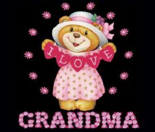 I Love Grandma HEAT PRESS TRANSFER for T Shirt Sweatshirt Fabric Tote Bag #412