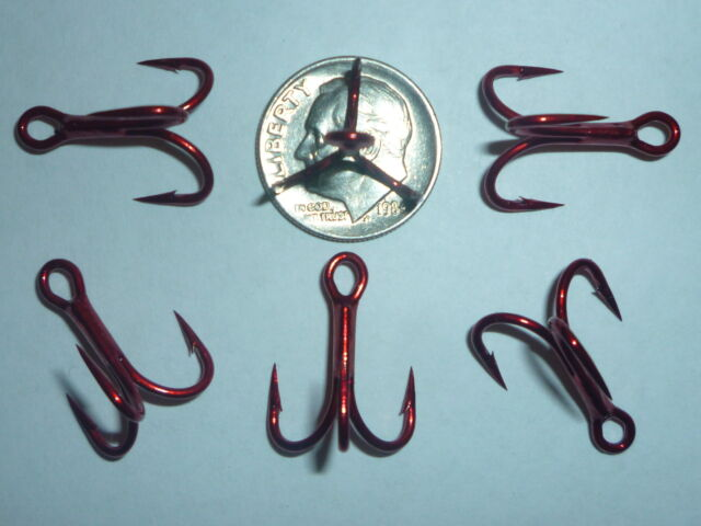 1 Fishing hooks treble hook VMC 9626 RED 4X STRONG SIZES AVAILABLE 1//0