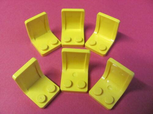 x6 LEGO 4079 @@ Minifig Utensil Seat 2 x 2 @@ YELLOW @@ JAUNE