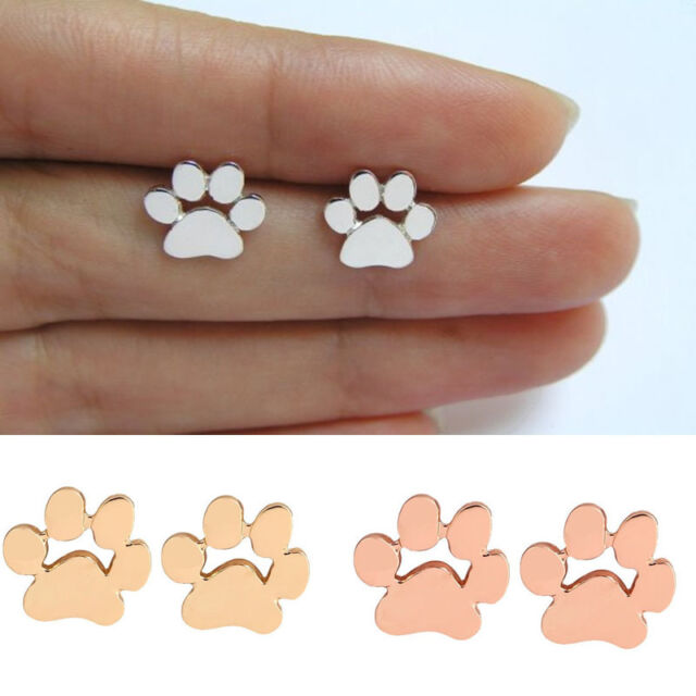 1 Pair Cute Animal Paw Ear Studs Dog Footprint Earrings Eardrop Fashion Jewelry