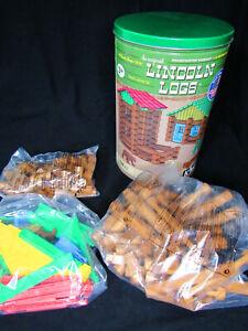 Lincoln Logs Mountaintop Hideout Building Set 138 PIECES KINEX Original 859 Wood