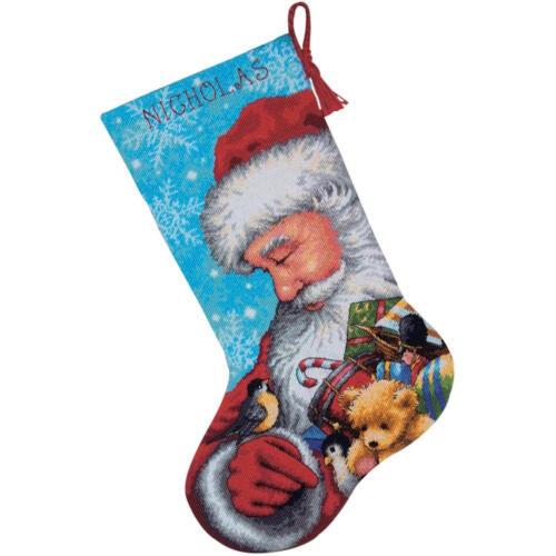 Dimensiones 9145 Santa y juguetes Media Kit de Bordado Punto