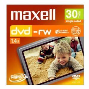 0-P-amp-H-Maxell-8cm-Camcorder-DVD-RW-30min-5-Pack-Jewel-Case