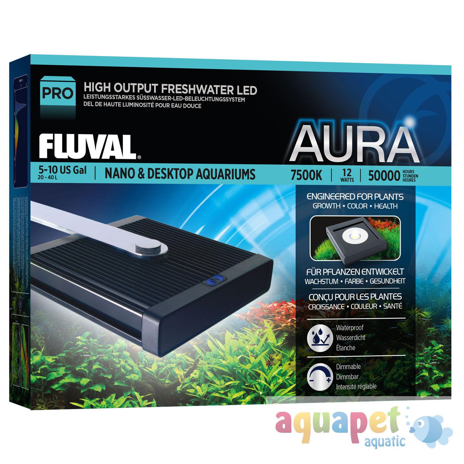 FLUVAL Aura ad alto rendimento Nano Lampada A LED  22 W  14 CM x 15.5 cm
