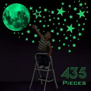 435Pcs-Glow-In-The-Dark-Luminous-Stars-And-Moon-Planet-Space-Wall-Stickers-Decal
