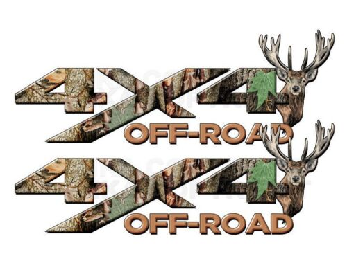 4x4 OFF ROAD Camouflage Real AP Camo Dear Head Decal Sticker CHEVY FORD
