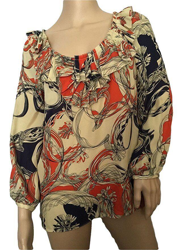 NEW Anthropologie Leifsdottir Ruffle Silk Blouse Top Größe 6