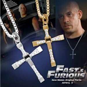 Cross-Pendant-Necklace-Silver-Stainless-Steel-Unisex-039-s-Chain-Crucifix-Men-Women