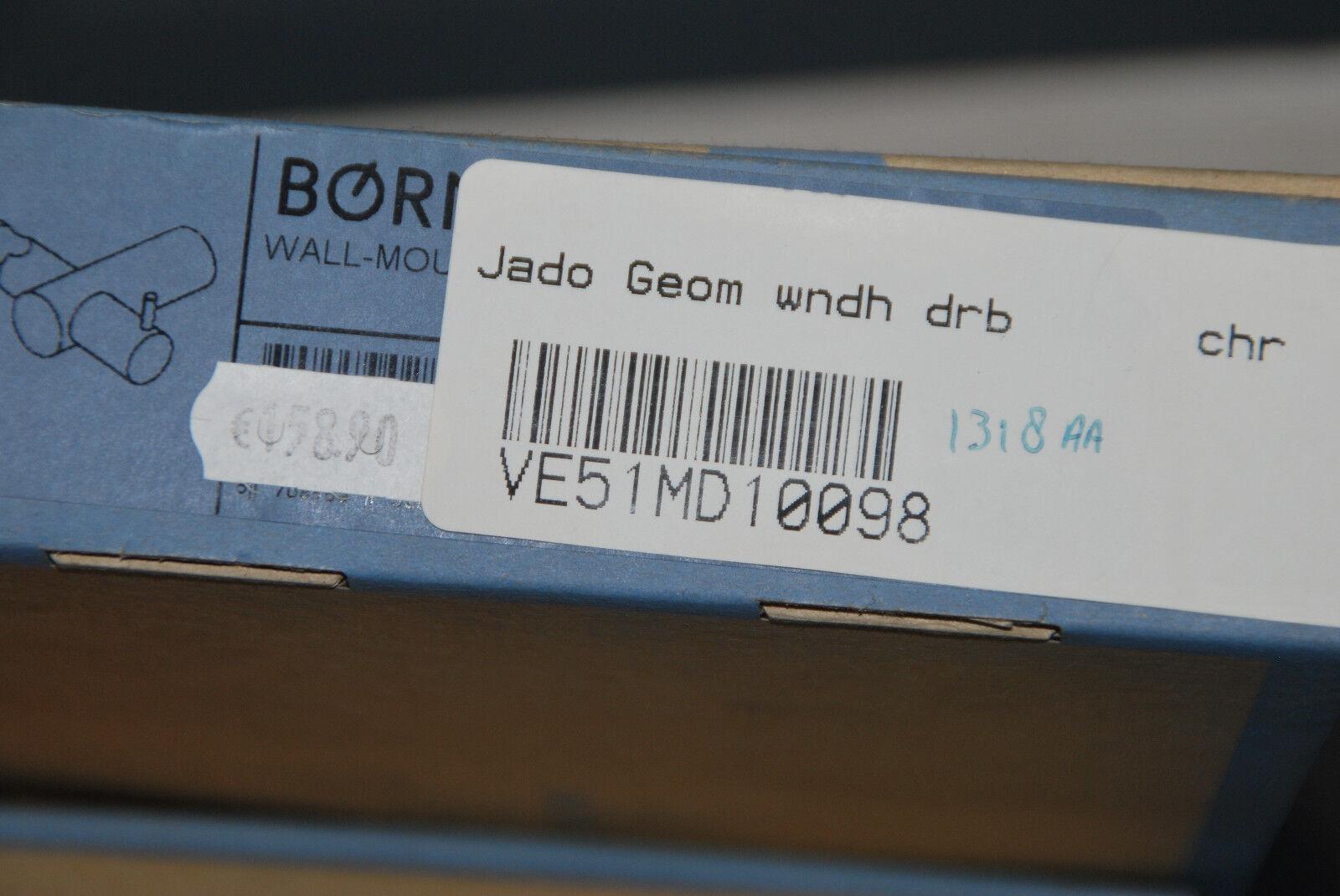 BORMA 1318AA DUSCHHALTERUNG CHROM SCHWENKBAR JADO GEOMETRY F1318AA MASSIV NEU