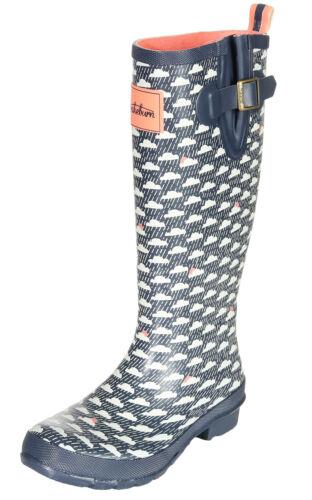Damen Stiefel Gummistiefel Schuhe Regenstiefel Wolke Brakeburn Rain Cloud Welly