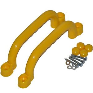 2-Hand-Grips-Play-Tower-Handle-Adventure-Bed-Climbing-Frame-Plastic-Yellow