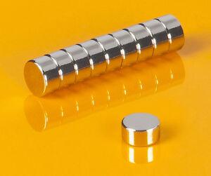 10-Neodym-Magnete-6-x-3-mm-runde-Scheiben-N45-6x3mm-Supermagnete-Buero-Basteln