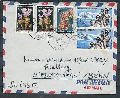 Vorsichtig Alle Welt Gabun afrika Saubere Lupo Brief Ab Libreville 3.11.69 In Die Schweiz Mild And Mellow