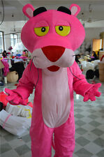Halloween Pink Panther Mascot Costume Cartoon Fancy Dress Outfit  Adult Size
