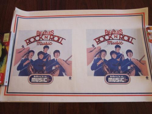 BEATLES Rock n roll Music Poster 13x20