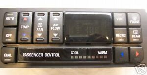 97 98 99 01 BUICK REGAL DIGITAL CLIMATE CONTROL REPAIR SERVICE TO YOUR UNIT