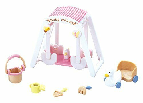 208 Epoch Calico Critters furniture baby swing set mosquito