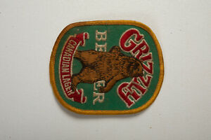 Canada Brown Bear GRIZZLY BEER CANADIAN LAGER Advertising Patch 00SP