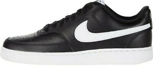 Nike-Men-039-s-Court-Vision-Low-Gym-Black-Leather-Sneakers-Size-9-CD5463-001