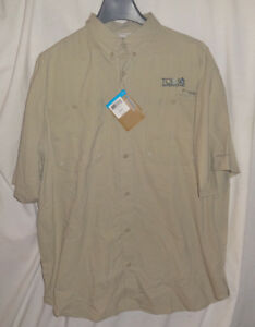 COLUMBIA-Mens-TAMIAMI-II-Short-Sleeve-Shirt-Sz-XL-40-UPF-Sun-Fishing-Water-NWT