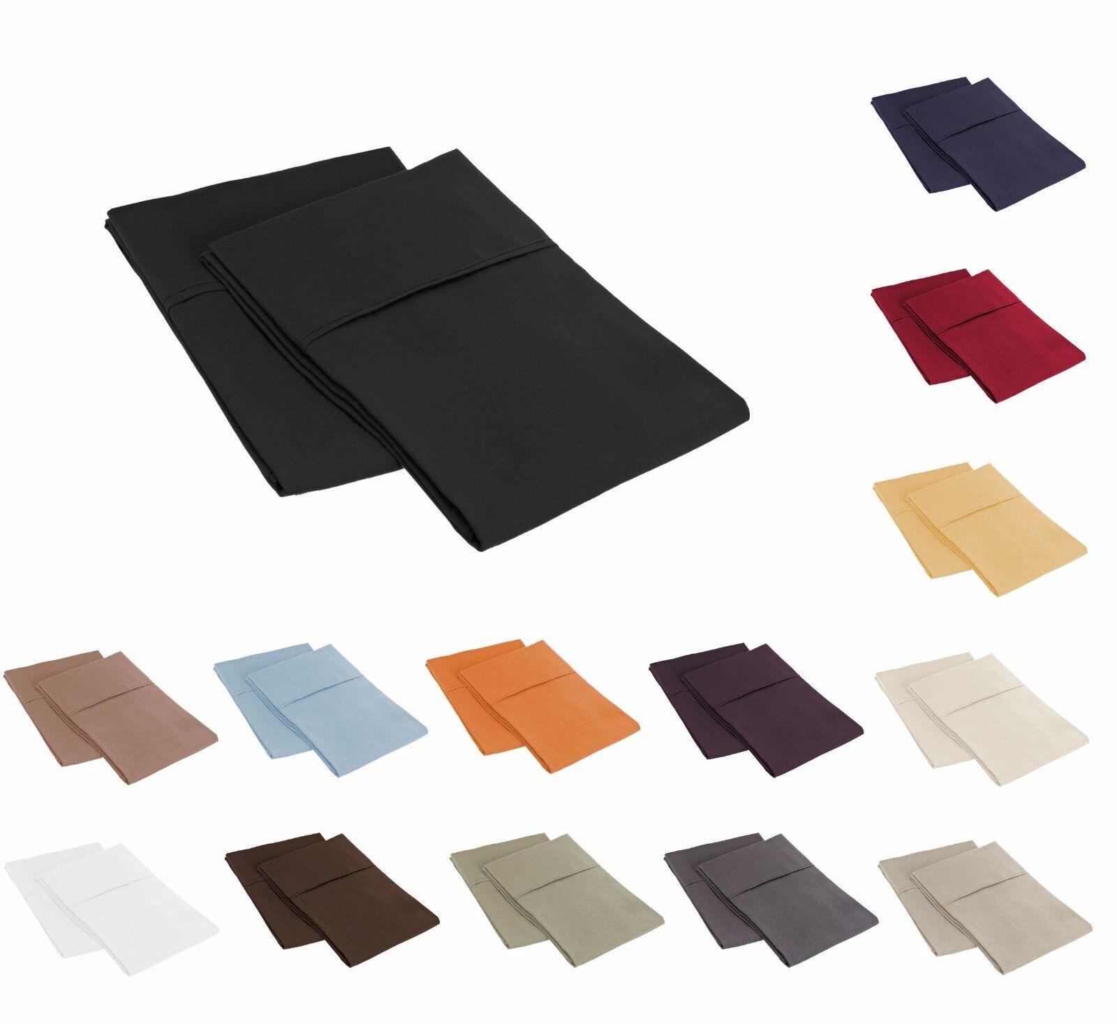 wrinkle resistant pillowcases set bed pillow shams