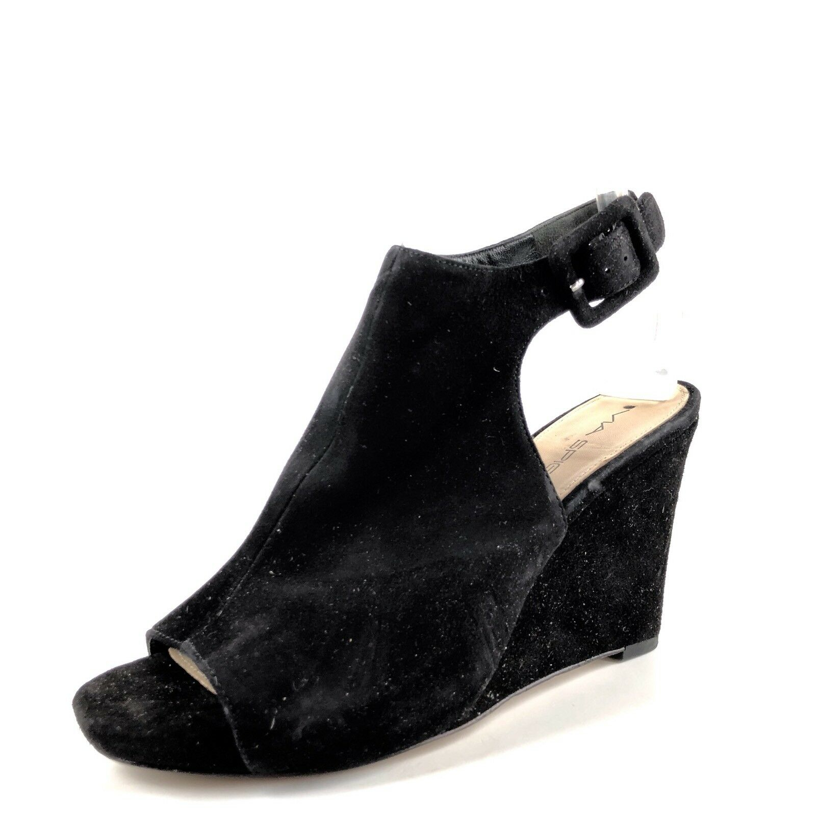 Via Spiga Donna  nero Suede Slingback Slingback Slingback Open Toe Wedge Sandals Dimensione 6.5 M  251e11